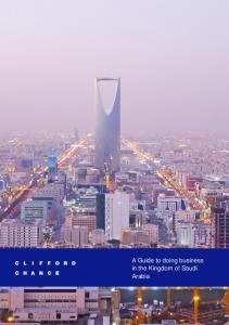A Guide to doing business in the Kingdom of Saudi Arabia