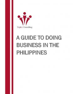 A GUIDE TO DOING BUSINESS IN THE PHILIPPINES