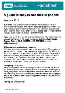 A guide to easy-to-see mobile phones