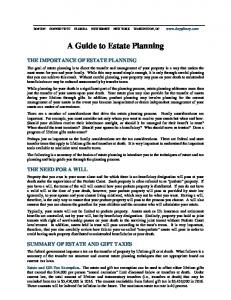 A Guide to Estate Planning