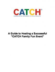 A Guide to Hosting a Successful CATCH Family Fun Event