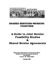 A Guide to Joint Service Feasibility Studies & Shared Service Agreements
