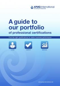 A guide to our portfolio of professional certifications