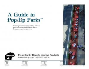 A Guide to Pop-Up Parks