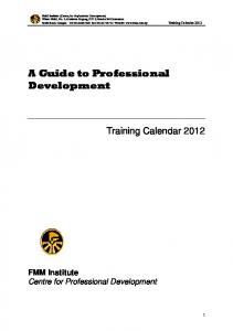 A Guide to Professional Development