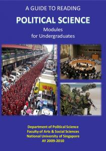 A GUIDE TO READING POLITICAL SCIENCE. Modules for Undergraduates