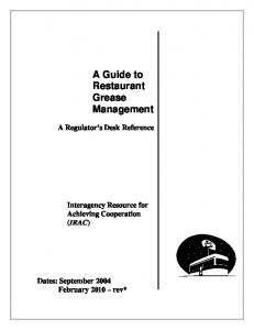 A Guide to Restaurant Grease Management