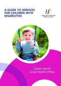 A GUIDE TO SERVICES FOR CHILDREN WITH DISABILITIES