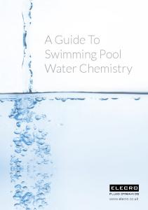 A Guide To Swimming Pool Water Chemistry