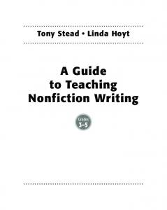 A Guide to Teaching Nonfiction Writing