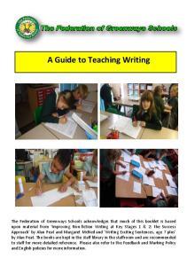 A Guide to Teaching Writing