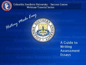 A Guide to Writing Assessment Essays