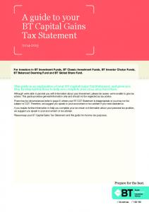 A guide to your BT Capital Gains Tax Statement