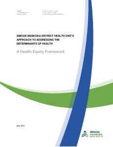 A Health Equity Framework