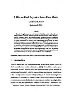 A Hierarchical Bayesian Arms Race Model