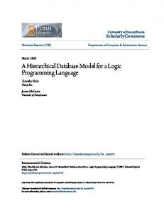A Hierarchical Database Model for a Logic Programming Language