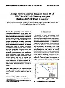 A High Performance Co-design of 26 nm 64 Gb MLC NAND Flash Memory using the Dedicated NAND Flash Controller