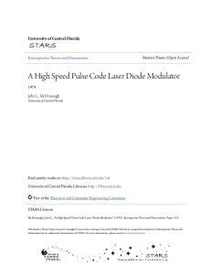 A High Speed Pulse Code Laser Diode Modulator