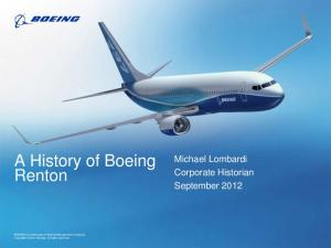 A History of Boeing Renton