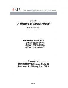 A History of Design-Build