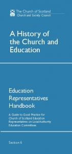 A History of the Church and Education