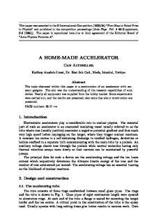A HOME-MADE ACCELERATOR