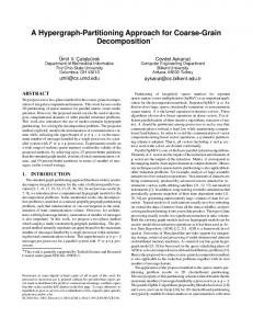 A Hypergraph-Partitioning Approach for Coarse-Grain Decomposition