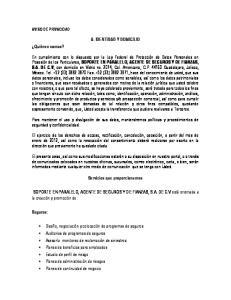 A. IDENTIDAD Y DOMICILIO