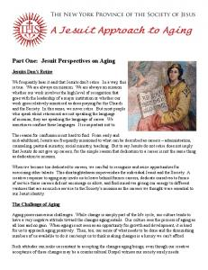 A Jesuit Approach to Aging