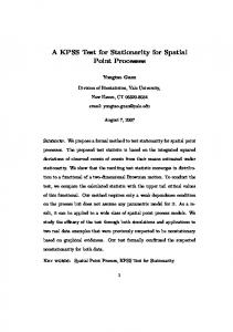 A KPSS Test for Stationarity for Spatial Point Processes