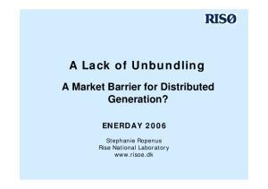 A Lack of Unbundling