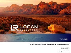 A LEADING USA GOLD EXPLORATION COMPANY