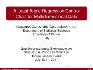 A Least Angle Regression Control Chart for Multidimensional Data