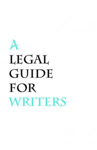 A legal guide for writers