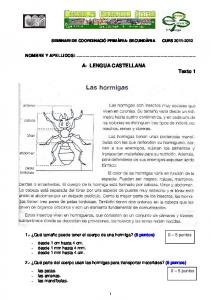 A- LENGUA CASTELLANA Texto 1