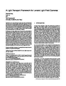 A Light Transport Framework for Lenslet Light Field Cameras