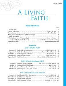 A Living Faith. Lessons. Unit 1: What Is Faith?