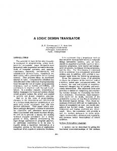 A LOGIC DESIGN TRANSLATOR