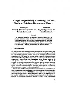 A Logic Programming E-Learning Tool For Teaching Database Dependency Theory