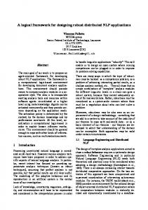 A logical framework for designing robust distributed NLP applications