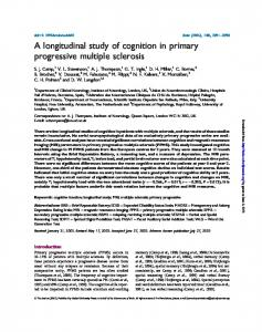 A longitudinal study of cognition in primary progressive multiple sclerosis