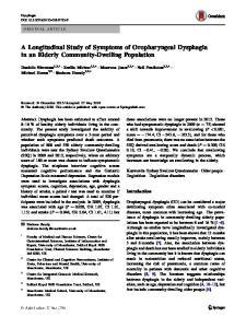 A Longitudinal Study of Symptoms of Oropharyngeal Dysphagia in an Elderly Community-Dwelling Population