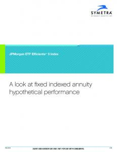 A look at fixed indexed annuity hypothetical performance