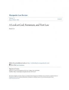 A Look at God, Feminism, and Tort Law