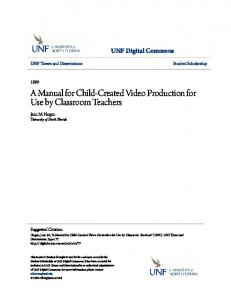 A Manual for Child-Created Video Production for Use by Classroom Teachers