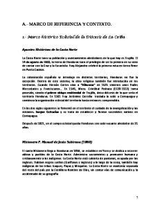 A.- MARCO DE REFERENCIA Y CONTEXTO