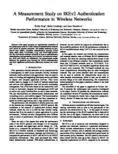 A Measurement Study on IKEv2 Authentication Performance in Wireless Networks