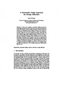A Mechanism Design Approach for Energy Allocation