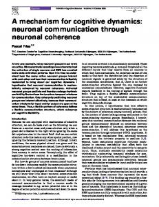 A mechanism for cognitive dynamics: neuronal communication through neuronal coherence