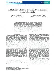 A Medium-Scale New Keynesian Open Economy Model of Australia